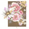 Delicate floral background with flowers — Imagens vectoriais em stock