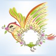 Spring bird — Stock Vector #9578976