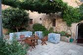 Monticchiello - middeleeuws dorp in de buurt van pienza. toscane. italië — Stockfoto