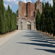Stock Photo: Alley near Abbey of SGalgano