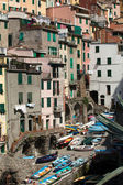 Riomaggiore - one of the cities of Cinque Terre in italy — Stock Photo
