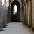 The side nave of the Abbey of San Galgano - Stock Photo