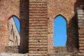 トスカーナはサン ガルガノ修道院のファサード, — ストック写真