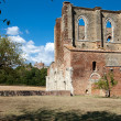 The side wall of the Abbey of San Galgano. Tuscany - Stock Photo
