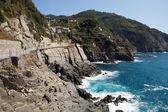 Delle cinque terre - la strada dell'amore. Liguria — Foto Stock