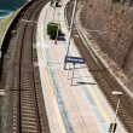 Railway station of Manarola in Cinque Terre — Stock Photo #10724548