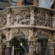 Pisa - Duomo interior.  Pulpit by Giovanni Pisano — Stock Photo