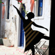 Greek Street dancer in Kos. Dodecanese, Greece — Stock Photo