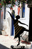 Greek Street dancer in Kos. Dodecanese, Greece — Foto Stock