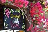 Cocinado con amor - inspira y alienta — Foto de Stock