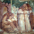 Pisa, Camposanto,  The Triumph of Death, detail, fresco, Buonamico Buffalma - Stock Photo