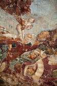Pisa, Camposanto, The Triumph of Death, detail, fresco, Buonamico Buffalma — Stock Photo