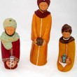 Figures representing nativity scene on white background — Stock Photo