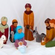 Stock Photo: Figures representing nativity scene on white background