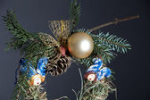 Eco-friendly Christmas decorations, hand-made of hay — Стоковое фото
