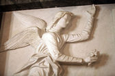 The angel performs the gesture of announce — Stok fotoğraf