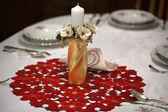 Elegante kerstmis tabel instelling — Stockfoto