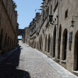 Old Rhodos town. Street of the Knights (Now Embassy street) - Stock Photo