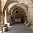 Rhodes - the medieval building of the Hospital of the Knights. - Stock Photo