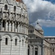 Pisa - Baptistry, Leaning Tower and Duomo in the Piazza dei Miracoli - Foto de Stock  