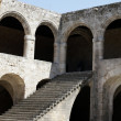 Rhodes - the medieval building of the Hospital of the Knights. - 