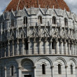 Pisa - Baptistry of St. John in the Piazza dei Miracoli - Zdjcie stockowe
