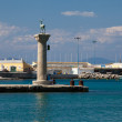 Mandraki Harbour, Rhodes — Stock Photo
