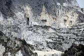 De marmergroeven - Apuaanse Alpen — Stockfoto