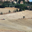 The hills around Pienza and Monticchiello - Stock Photo