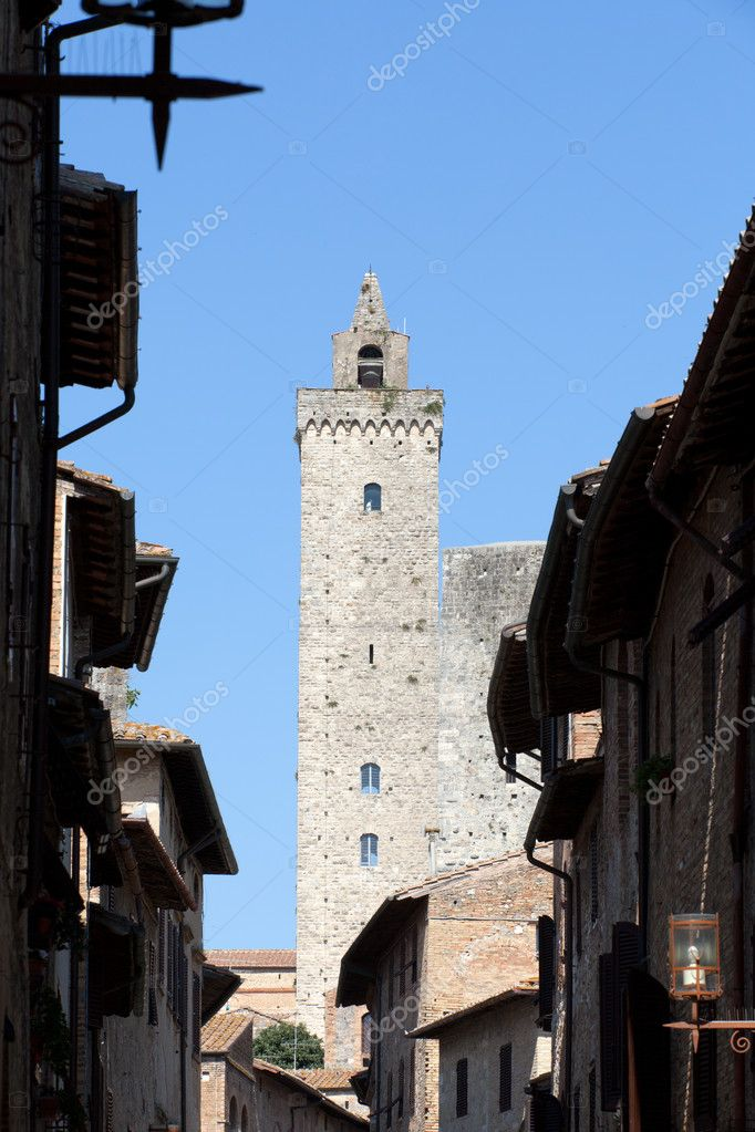 San Gimignano-  small walled medieval hill town in the Tuscany  Stock Photo #9720345