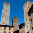 SGimignano- small walled medieval hill town in Tuscany — Stockfoto #9793738