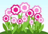 粉红色的花草甸 — 图库矢量图片