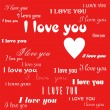 Vector de stock : I love you