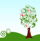 árbol verde — Vector de stock