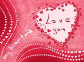 карточка с любовью — Стоковое фото