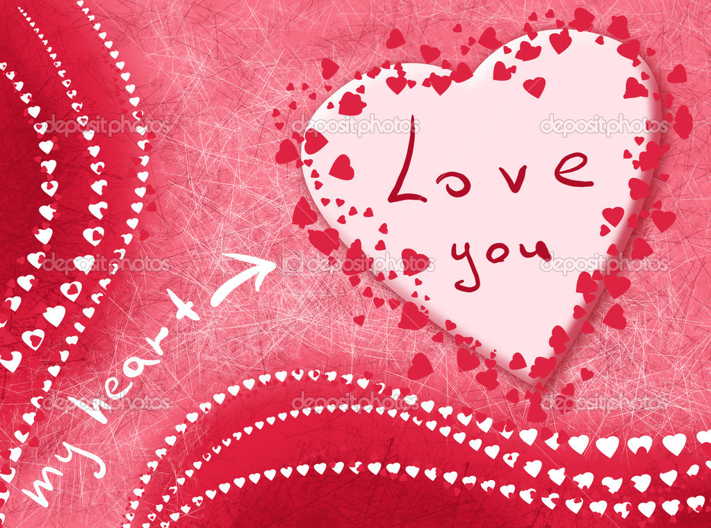 Card. My heart loves you — Stock Photo #8233918