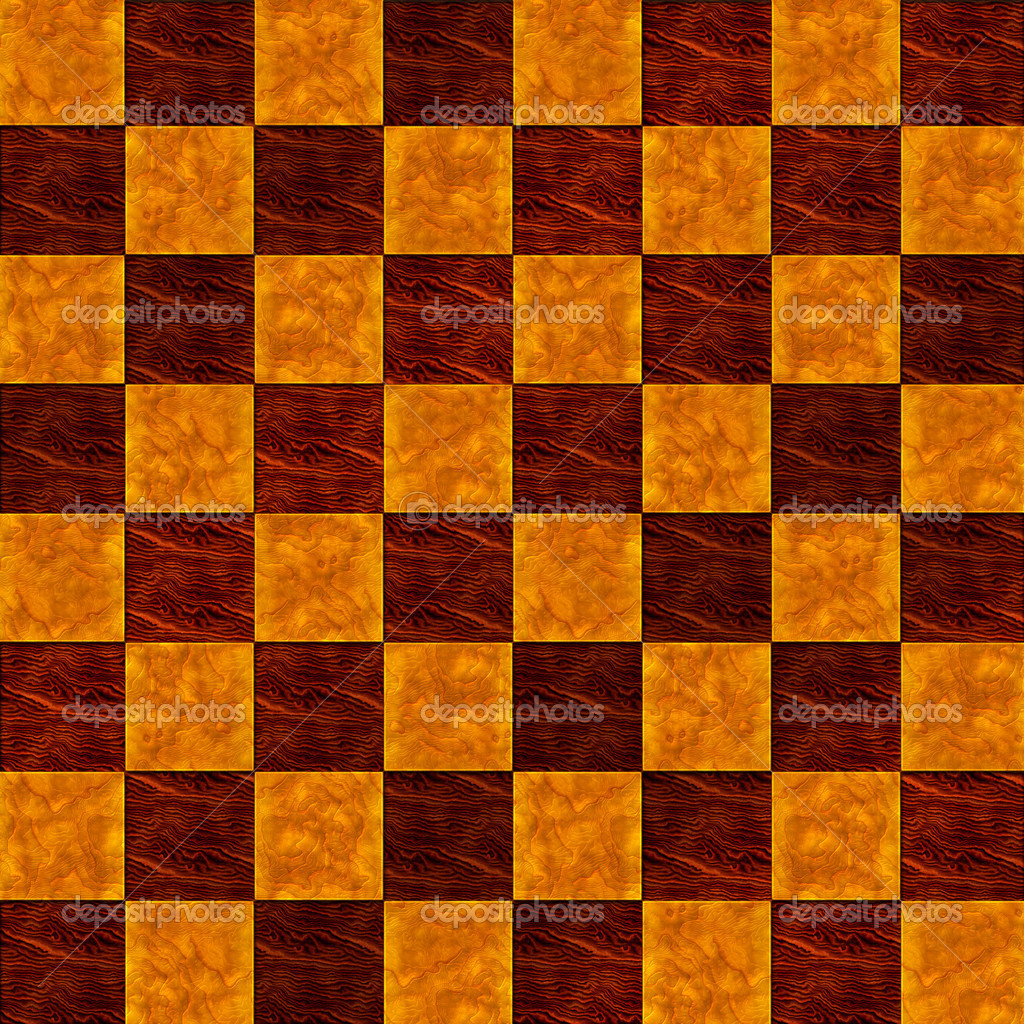 Inlaid Wood Checkerboard Floor Seamless Pattern Stock