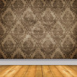 Royalty-Free Stock Photo: Empty Damask Room With Bare Floors