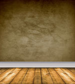 Empty Brown Room With Bare Floors — Stock Photo