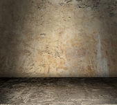 Bare Grunge Concrete Room — Stockfoto