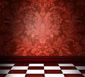 Red Damask Room — Stock Photo