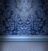 Blue Damask Room — Stock Photo