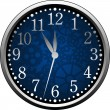 Stock Vector: Blue Clock