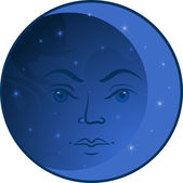 Face of the Moon — Stock Vector