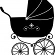 Royalty-Free Stock Vector Image: Baby Stroller (Silhouette)