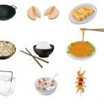 Çin yemeği vektör çizim — Stok Vektör