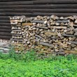 Firewood against wooden wall — Foto Stock #8328277