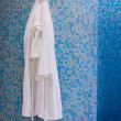 Bathroom with white gown — Stock Photo