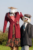 Two scarecrows — Stockfoto