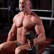 Bodybuilder exercising — Stock Photo #8829406